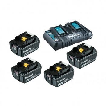 EnergyPack Li-Ion 18V Chargeur double + 2 Accus 6.0 Ah Makita