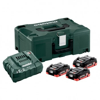 Set 3 Accus 18V - 4,0 Ah avec chargeur ASC Metabo
