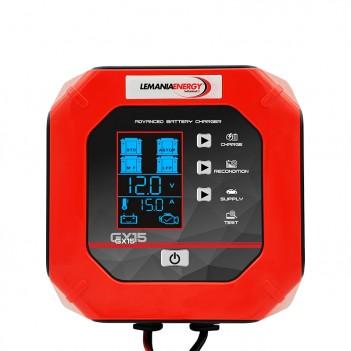 Chargeur de batterie camion 12/24V - 15.0A GX15 Lemania Energy
