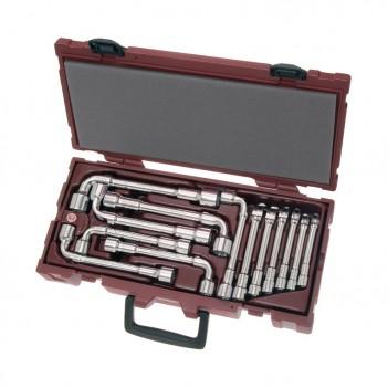 Coffret de clés à pipe débouchées polies 13 pcs. Kraftwerk