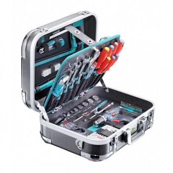 Coffre à outils Technocraft PRO CARBON GSR 124-pcs + Visseuse 1