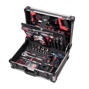 """Coffret d'outils Pro-Line avec visseuse BOSCH, 1/4"""" + 1/2"""", 264 pcs. Kraftwerk"""