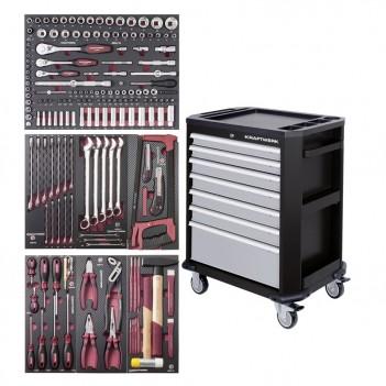 Servante d'atelier P207, avec outils, 187 pcs. Kraftwerk