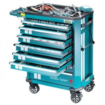 Chariot d'atelier 297 pièces Technocraft Swiss-Team