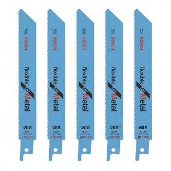 5 lames de scie sabre S 922 BF Flexible for Metal Bosch