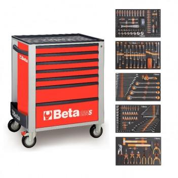 Servante mobile d'atelier 7 tiroirs 295 outils 2400S-7/E-L Beta