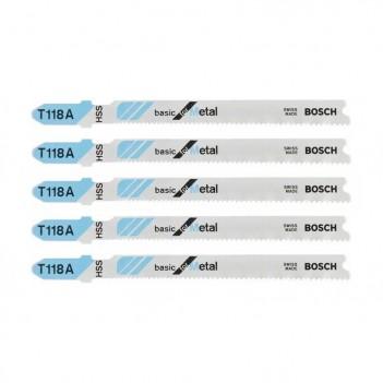 Lames De Scie Sauteuse T 118 A Basic For Metal Bosch