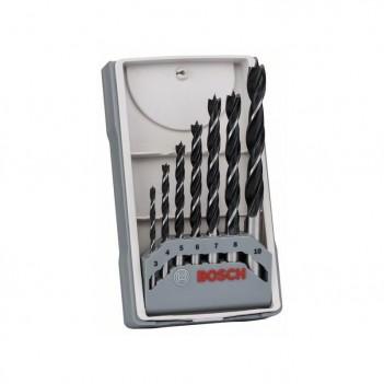 Set de 7 mèches à bois hélicoïdales Bosch 3/4/5/6/7/8/10mm