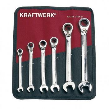 Trousse de 6 Clés à Cliquet réversibles ClicKraft Kraftwerk