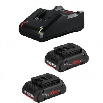 Set 2 batteries ProCORE18V 4.0Ah + Chargeur GAL 18V-40 Bosch