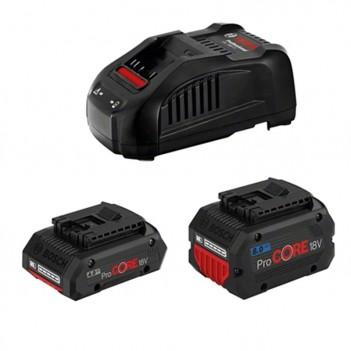Set 2 batteries ProCORE18V 4.0Ah et 8.0Ah + Chargeur GAL 1880 CV Bosch