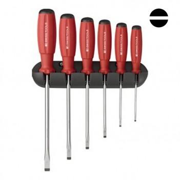 Jeu de tournevis plats avec support mural PB Swiss Tools PB 8240