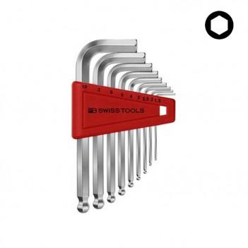 Jeu de clés mâles 6 pans avec tête sphérique PB Swiss Tools PB 212.H-10