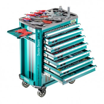 Chariot d'atelier 743 pièces SWISS-TEAM PLUS + PRO Technocraft