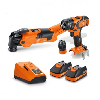 Set de 2 machines 18V + 2 Accus 3,0Ah Fein