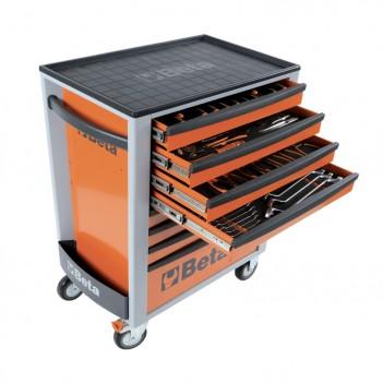 Servante mobile d'atelier 8 tiroirs 384 outils 2400S-O8/E-XL Beta