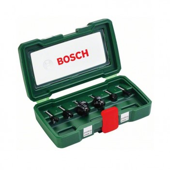 Set de 6 fraises au carbure (queue 6 mm) Bosch