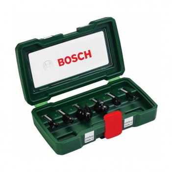 Set de 6 fraises au carbure (queue 8 mm) Bosch