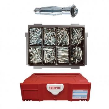 Assortiment de chevilles métallique pour corps creux PHD 370 pièces PROFIX