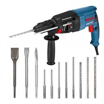 Bohrhammer mit SDS plus 830W 2,7J GBH 2-26 F + Bohrer und Meißel Bosch